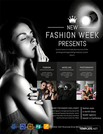 Free Fashion Week Flyer Template