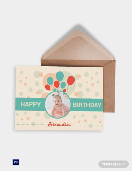 Elegant Birthday Greeting Card Template