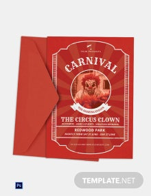 Circus Carnival Invitation Template