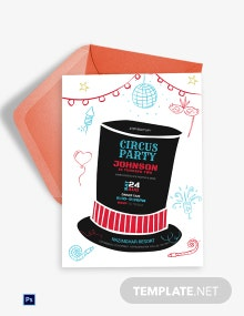 Birthday Circus Party Invitation Template