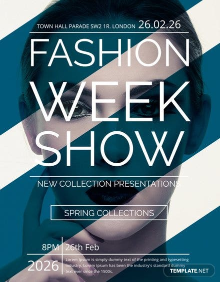 free fashion week show flyer template christmas concert flyer