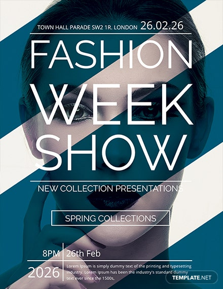 free fashion week show flyer template 1x