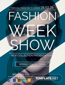 FREE Fashion Week Show Flyer Template
