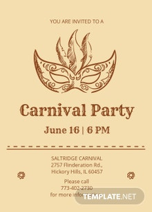 Vintage Carnival Party Invitation Template
