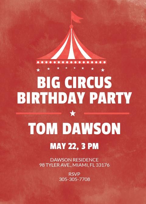 Watercolor Circus Birthday Invitation.jpe
