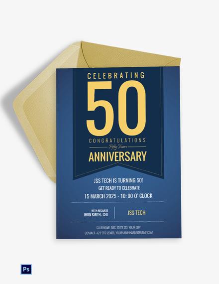Corporate Anniversary Invitation Template