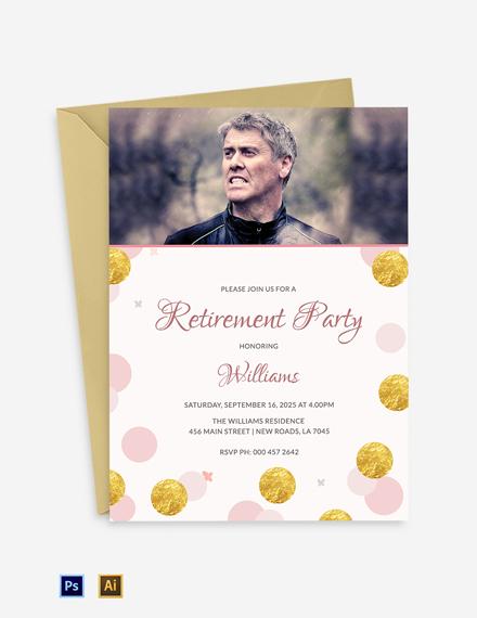 Modern Retirement Party Invitation