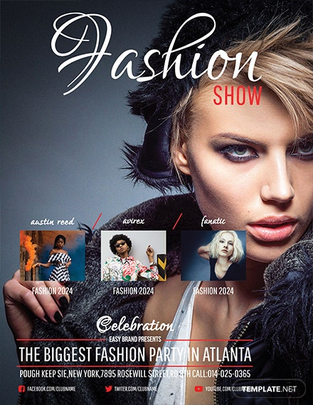 free fashion show flyer template 1x