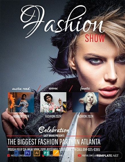 Free Fashion Show Flyer Template