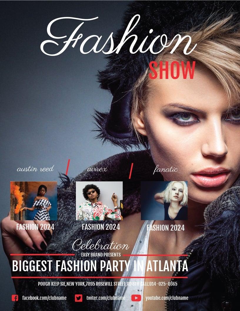 Free Fashion Show Flyer Template.jpe