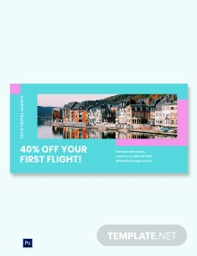Airplane Travel Blog Image Template