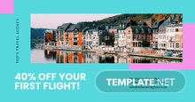 Free Airplane Travel Facebook Post Template