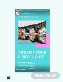 Free Airplane Travel Instagram Story Template