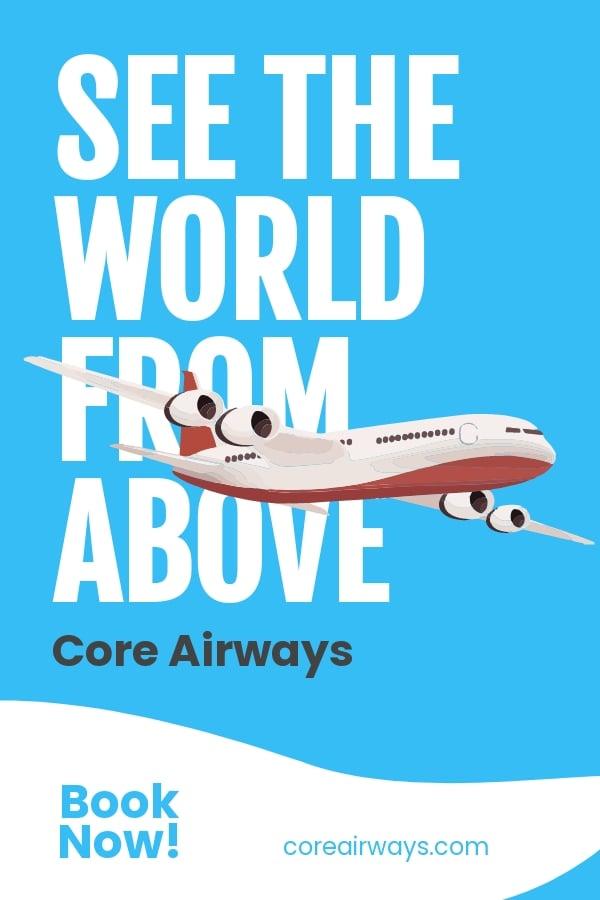 Airplane Travel Pinterest Pin Template