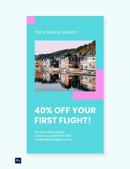 Free Airplane Travel Whatsapp Image Template
