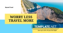Free Creative Travel Agency Facebook Post Template