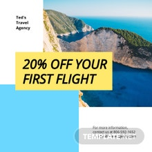 Free Creative Travel Agency Instagram Post Template