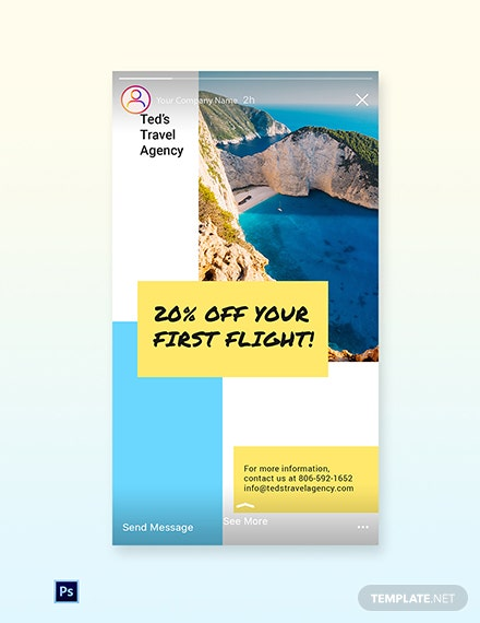 Free Creative Travel Agency Instagram Story Template
