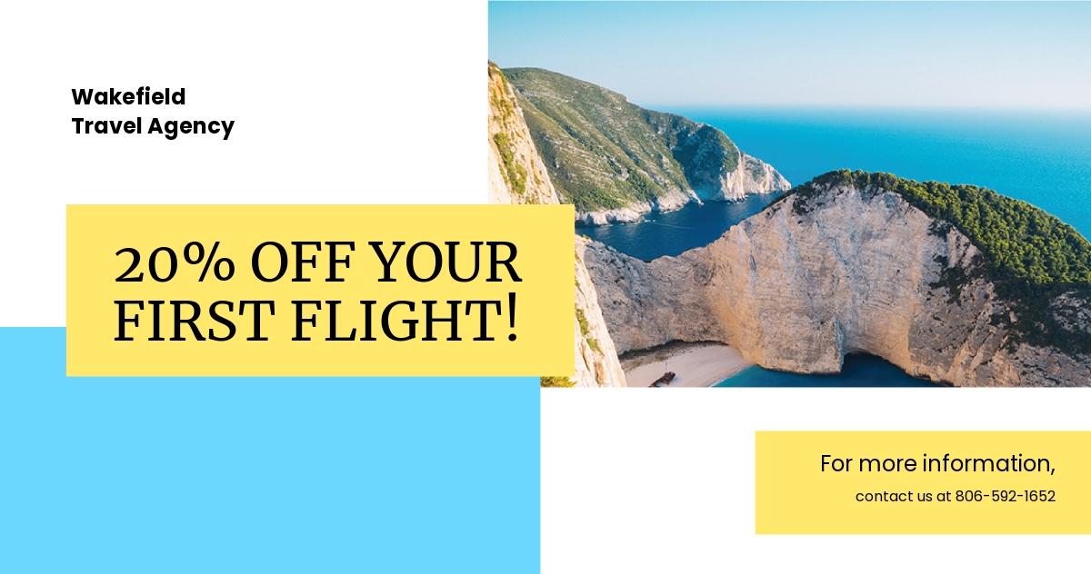 Free Creative Travel Agency LinkedIn Post Template.jpe