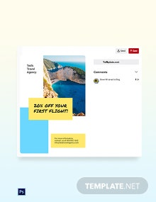 Free Creative Travel Agency Pinterest Pin Template