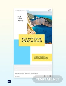 Free Creative Travel Agency Tumblr Post Template