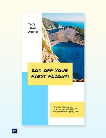 Free Creative Travel Agency Whatsapp Image Template