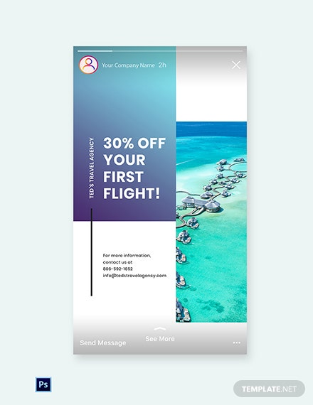 Free Editable Travel Instagram Story Template