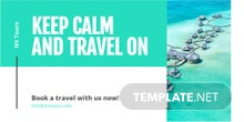 Free Editable Travel Twitter Post Template