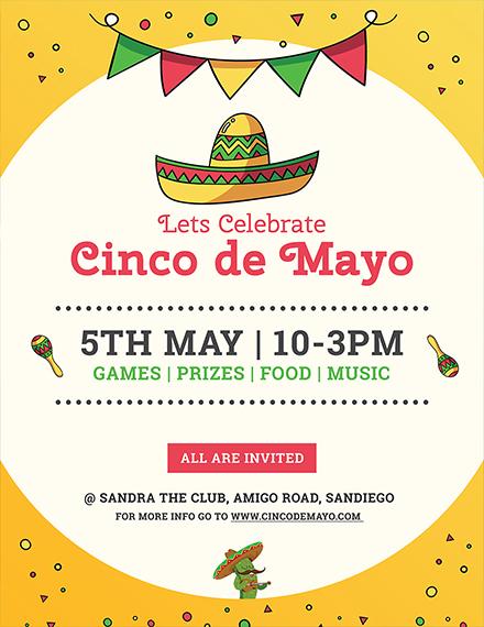 Free Cinco de Mayo Flyer Template
