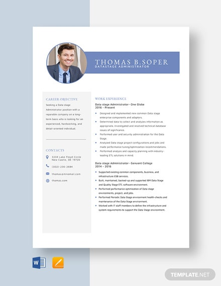 Datastage Administrator Resume Template
