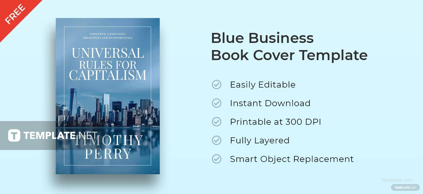 Blue Business Book Cover Template