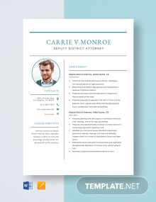 Deputy District Attorney Resume Template