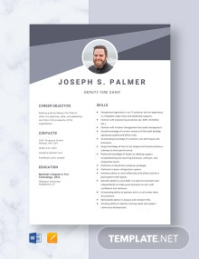 Deputy Fire Chief Resume Template