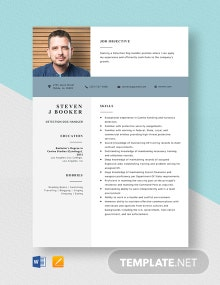 Detection Dog Handler Resume Template