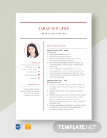 Detention Officer Resume Template