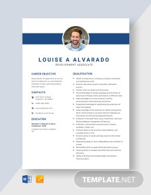 Development Associate Resume Template