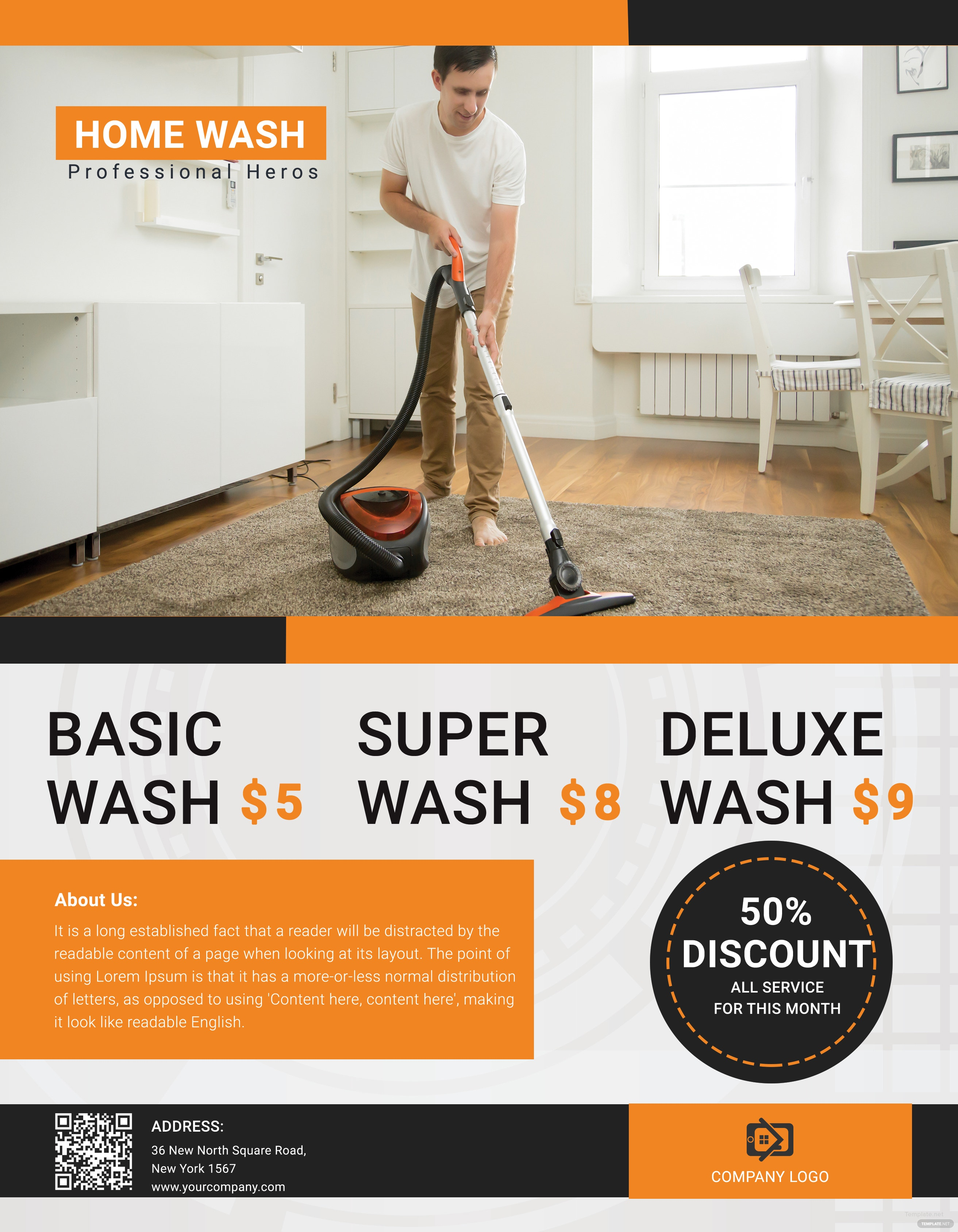 Free Cleaning Service Flyer Template in Adobe Photoshop, Illustrator ...