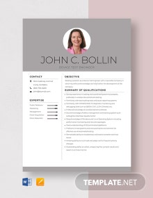 Device Test Engineer Resume Template