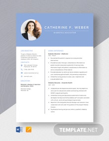 Diabetes Educator Resume Template
