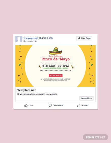 Free Cinco de Mayo Day Facebook Post Template