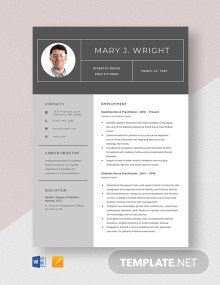Diabetes Nurse Practitioner Resume Template
