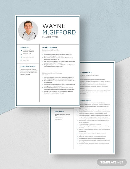 Dialysis Nurse Resume Download