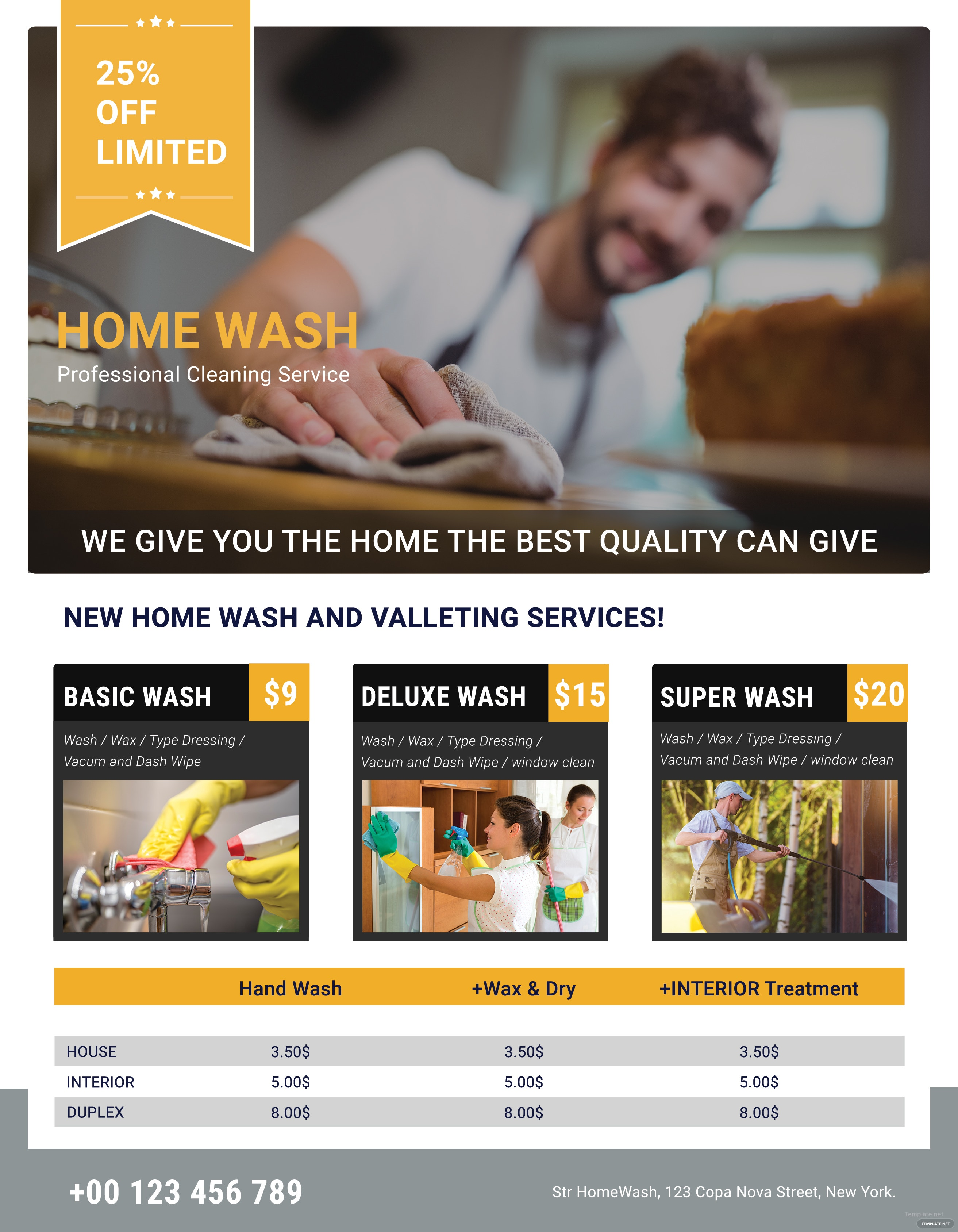 Free Professional Cleaning Services Flyer Template in Adobe ...