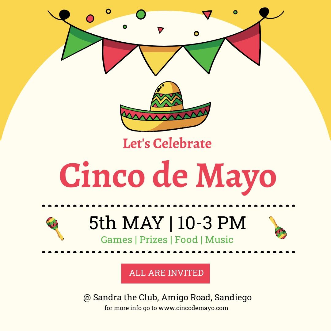 Free Cinco de Mayo Day Instagram Post Template