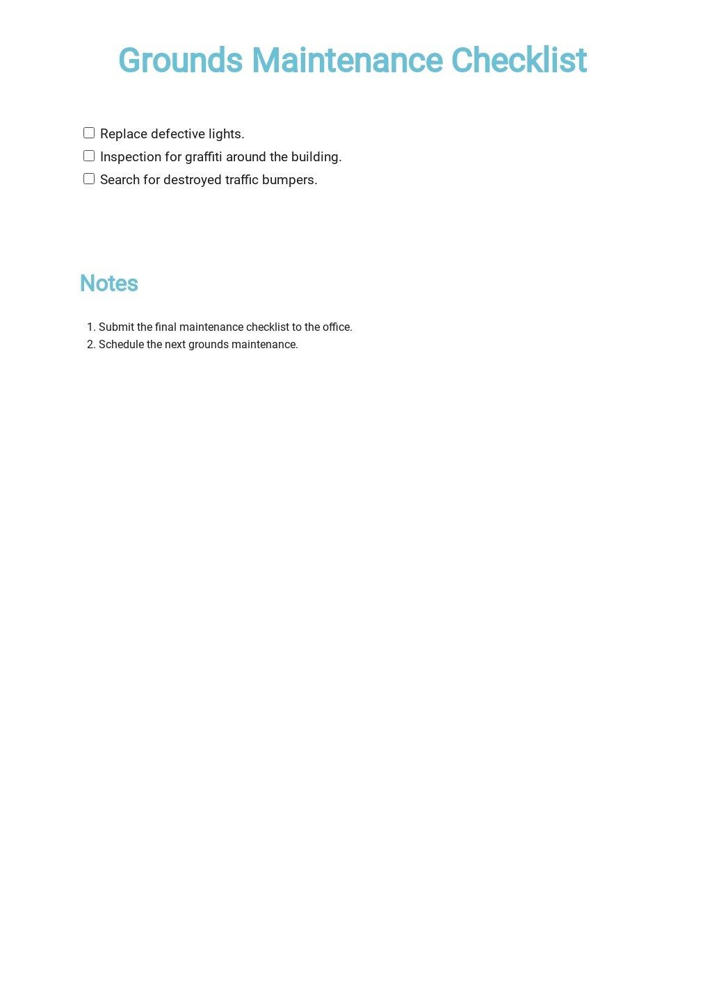 Grounds Maintenance Checklist Template.jpe