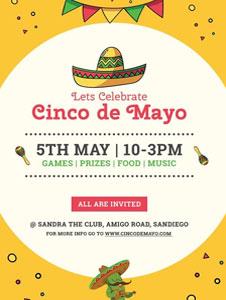 Free Cinco de Mayo Day Invitation Template