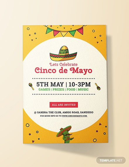 free cinco de mayo day invitation template download 344