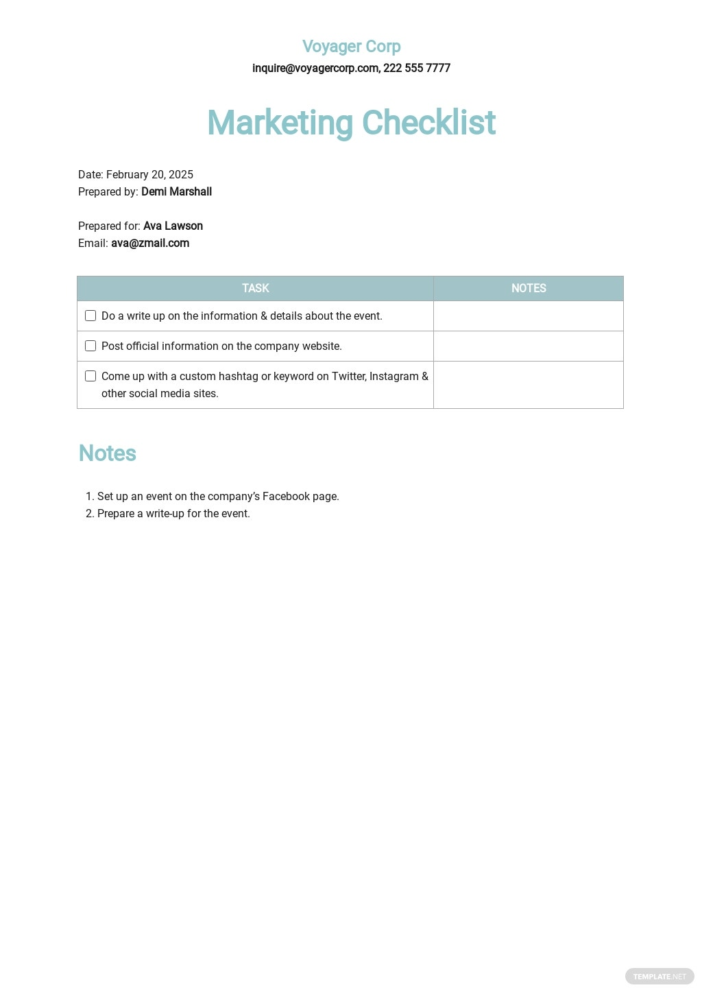 Marketing Checklist Template.jpe