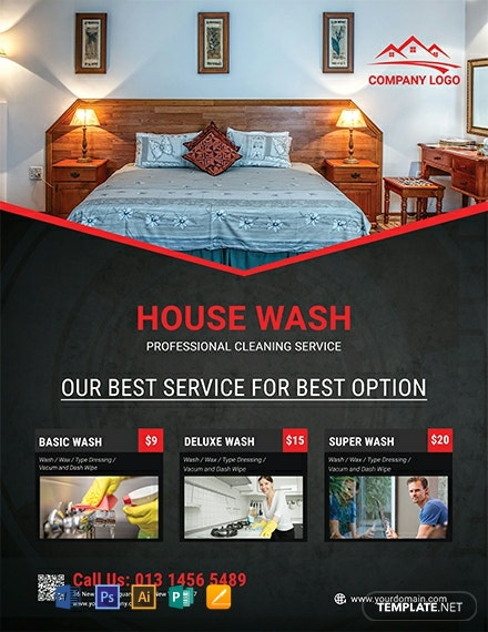 Free Simple House Cleaning Service Flyer Template