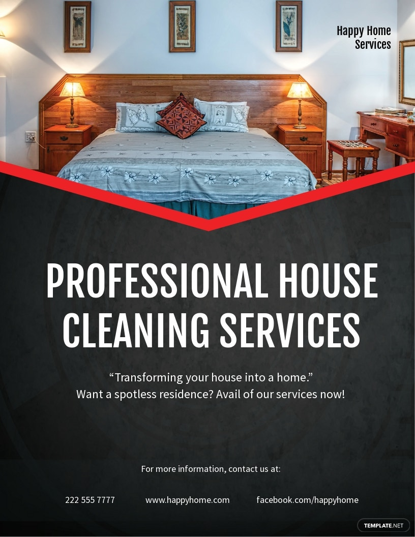 Simple House Cleaning Service Flyer Template
